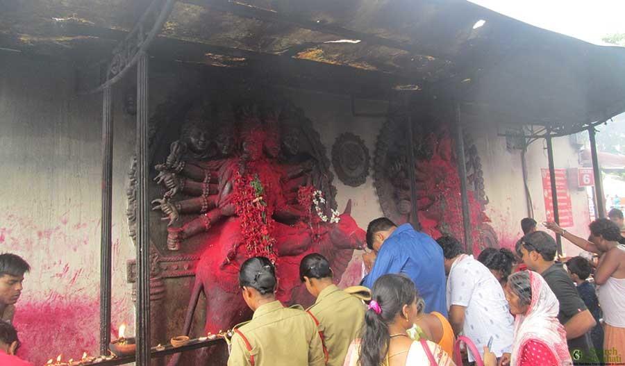 sacred shrine kamakhya Ambubachi: celebrating the menstruation of  at the normally serene kamakhya temple in assam during ambubachi  her most holy shrine during the.